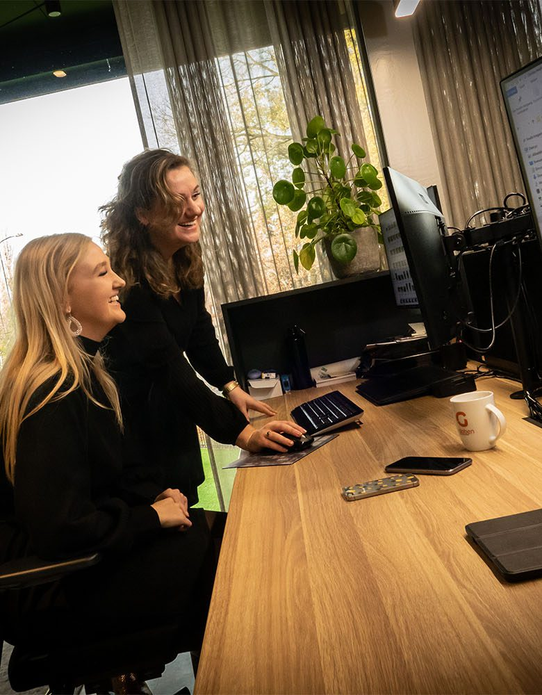 Werken bij Globen op kantoor intern personeel